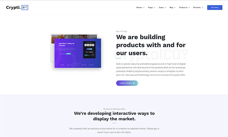 CryptiBIT – ICO Landing Page, ICO Consulting, Bitcoin