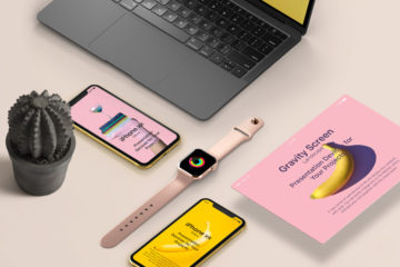 Office Psd Basic Stationery Mockup